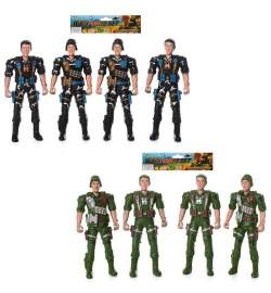 Солдат 277-8-9 (180шт) 4шт, 2вида, в кульке, 20-19-2см