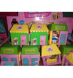 Кукла LOL Surprise Happy VIILA (12шт/кор.) 3 вида комнат с возможность собрать Виллу 7*7.5*5, цена за коробку