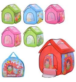Палатка M 3756 (12шт) домик,112-102-1146см,1вх-сетка/застеж-молния,окно-сетка,6вид,в сумке.37-37-5с