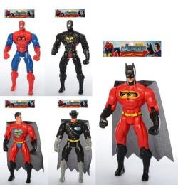 Супергерой 8886-1-2-3-4 (144шт) 28см,свет,подв.руки и ноги,4вид(BM,СП,СМ),бат(таб),в кул,19-35-4,5с