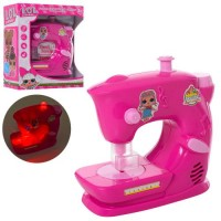 Швейная машинка 320G28 (42шт) LOL, 14см, муз, свет,на бат-ке, в кор-ке, 17-20-9,9см
