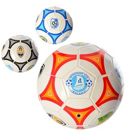 Мяч футбольный EV 3164 (30шт) размер 5, ПВХ 1,6мм, 2слоя, 32панели, 300-320г, 2вида(клубы)-3цвета