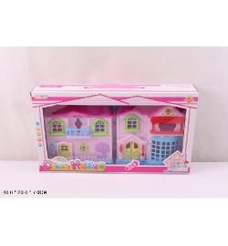 Кукольный дом 8071B с куклами,мебелью батар.муз.свет.кор.40*7*23 /48/
