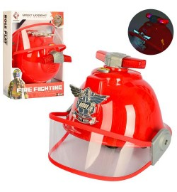 Набор пожарника F003A (36шт) каска, разм16-19см, звук, свет, на бат(таб), в кор-ке, 30,5-23,5-16см