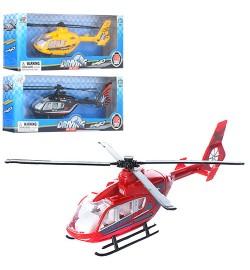 Вертолет XY110 (144шт) металл, 1:12, 18см, 3вида, в кор-ке, 24-4,5-10см
