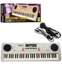 Синтезатор BF-630B2 (24шт) 61клавиша,микрофон,USB.MP3,запись,Demo,2цв,от сети,в кор-ке,65,5-22,5-9с