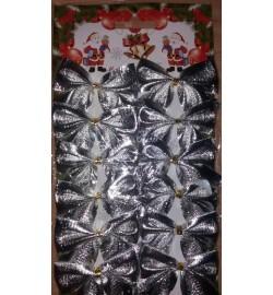 Набор бантиків срібло 6-60 (6529)