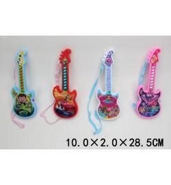 Музыкальная гитара 8120-5 (1733799) (288шт/2)Тачки,Лол,Бен,Пони4вида,батар,свет,звук,мелод,в пак10*
