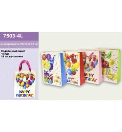 Подарочный пакет 7503-4L (360шт/2)