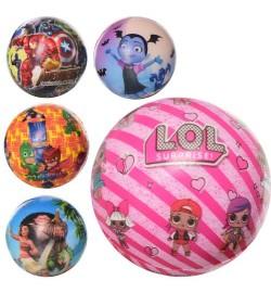Мяч детский фомовый MS 1949 (120шт) 5см, микс видов(LOL,AV,PGM,MN),12шт в кульке,17-23-5см