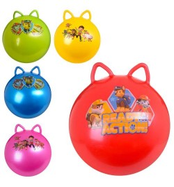Мяч для фитнеса MS 1583-1 (25шт) ЩП, с ушками,50см, 1-стикерн, 400г, 3вид,микс цв,в кульке,19-16-6с