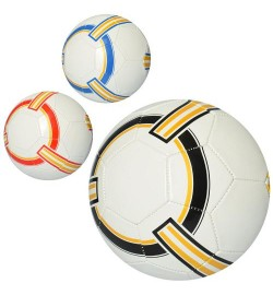Мяч футбольный EN 3214 (30шт) размер 5, ПВХ 1,6мм, 260-275г, 3 цвета,в кульке