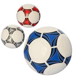 Мяч футбольный EN 3215 (30шт) размер 5, ПВХ 1,6мм, 270-280г, 3 цвета,а кульке,