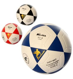 Мяч футбольный MS 1936 (30шт) размер 4, ПВХ 1,6мм, 300-320г, ламинирован,3цвета,в кульке,