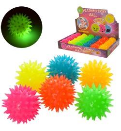 Мяч массажный MS 1146 (288шт)  5,5см,свет,пищал ,на бат-ке(таб),24шт(6 цветов)в дисплее,34-23-5,5см