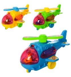 Вертолет 551-1 (480шт) заводной, 13,5см, 3цвета, в кульке, 14-8,5-8см