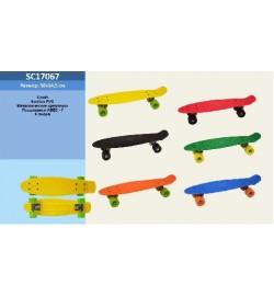 Скейт пенни борд SC17067 (15шт)разобр., металл.крепления,колеса PVC, 8 цветов, в коробке 55*15*10см