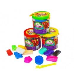 Набір легкого магічного пластиліну ТМ Moon light clay 10 кольорів ( в тубусі) тесто-пластилин