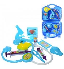 Доктор 58520 (36шт) мед.инструменты, стетоскоп-пищалка,в чемодане, в слюде, 23-40-4см