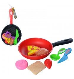 Продукты 930-18 (288шт) сковородка, кухон.принадлежности, микс видов, в сетке, 28-16-3см