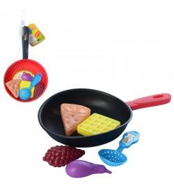 Продукты 930-42 (288шт) сковородка, 2 цвета, в сетке, 28-16-3см