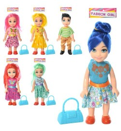 Кукла 201-1-2-3-4-5-6 (160шт) 14,5см, 6 видов(1вид-мальчик), в кульке, 10-20-3см