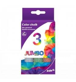 Мел цветной 3 цвета Jumbo в карт.уп.