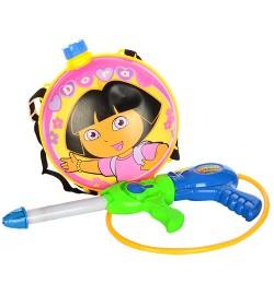 Водяной автомат M 3537 (24шт) Даша, помпа, 41см, с баллоном на плечи, в кульке, 35-50-10см