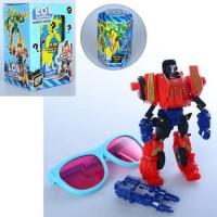 Трансформер J01 (48шт) LOL, 14см, робот+транспорт, очки,в колбе15см, в кор-ке,10,5-16-9,5см