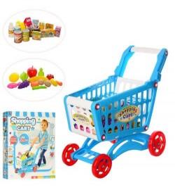 Тележка 922-10 (24шт) супермаркет, продукты, 56дет, в кор-ке, 51,5-41,5-8см