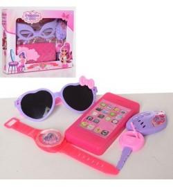 Набор аксессуаров HC164E-G (96шт) очки,брелок,2вида(сумочка/телефон), в кор-ке,23-19-5см