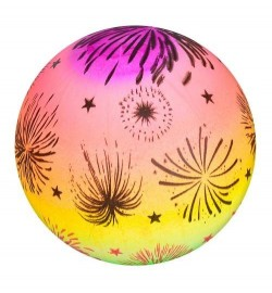 Мяч детский MS 1927 (240шт) радуга, рисунок, 70г, 28см, в кульке