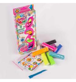 Набір тіста для ліплення TM LOVIN'DO Асорті 9 кольорів з глітером тесто