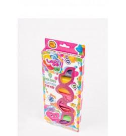 Набір тіста для ліплення TM LOVIN'DO Асорті 6 кольорів з глітером тесто