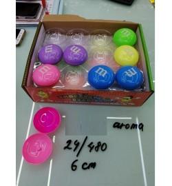 Лизун-антистресс  SL1906 (480шт) MM 5 цветов, ароматиз, 6 см, 24шт в дисплей боксе/цена за шт/