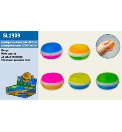 Лизун SL1909 (480шт) Macaroon, двухсторонний, 6 цветов 5,8 см, 24 шт в дисплей боксе антистресс