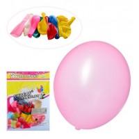 Шарики надувные MK 2318-2 (500шт) 12 дюймов, микс цветов, 10шт в кульке,