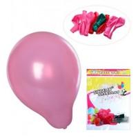 Шарики надувные MK 2320-2 (500шт) 10 дюймов, микс цветов, металлик, 10шт в кульке,