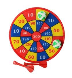 Дартс M 2664 (120шт) 22см(ткань,картон),на липучке,дротики2шт9см,мячики 2шт3см,в кульке,22-22-4см