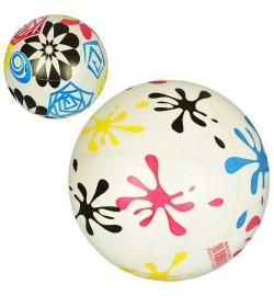 Мяч детский MS 1295 (240шт) 9дюймов, рисунок, 51-56г, ПВХ, 2вида