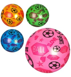 Мяч детский MS 1297 (240шт) 9дюймов, рисунок, 51-56г, ПВХ, 4цвета