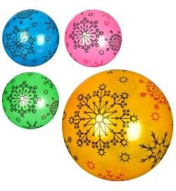 Мяч детский MS 2076 (240шт) 9дюймов, рисунок, 51-56г, ПВХ, 4цвета