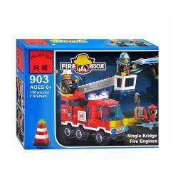 Конструктор BRICK 903 (70шт) Пожарная  тревога, 135 дет, в кор-ке, 18-14-4,5см