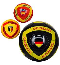 Мяч футбольный EV 3285 (30шт) размер5, ПВХ, 300-320г, 3вида, страны, в кульке,