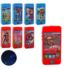 Телефон 2500-1-2-6-7-9-13-14-20-21 (336шт) 12см,св,микс видов(мульт), бат(таб), в кульке, 12-6-1,5с