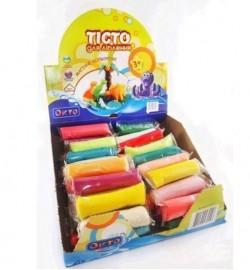 Набір тіста для ліплення ТМ LOVIN'DO 90 стиков по 35 г в шоубоксі тесто