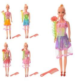 Кукла 8532 (240шт) 28см, расческа, 5видов, в кульке, 28-6-3см
