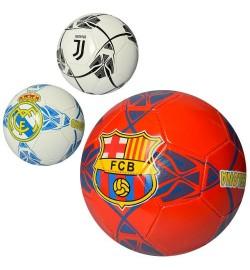 Мяч футбольный EV 3228 (30шт) размер 5, ПВХ 1,8мм, 300-320г, 3 вида(клубы)