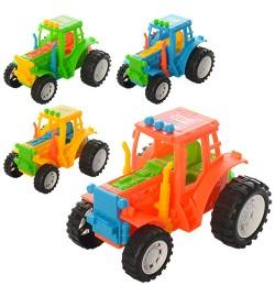 Трактор YB818-9 (336шт) 4цвета, 11см, в кульке, 11-8-7см