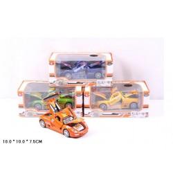 Машина метал. 613B (48шт/2) батар.,свет,звук,откр.двери,в коробке 18*10*7,5см